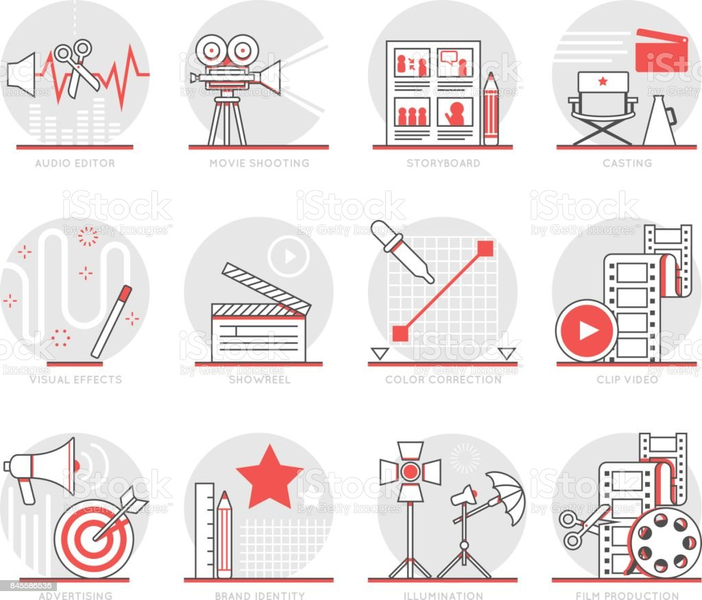 Infographics Icons Elements about Production
