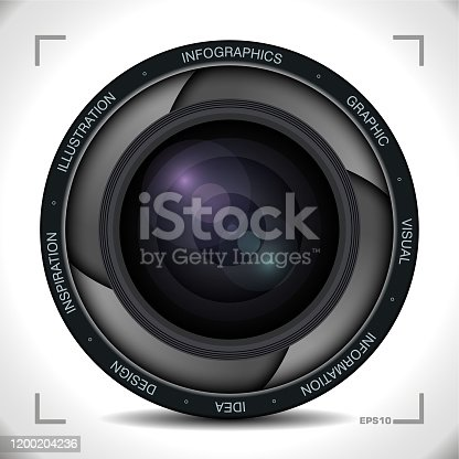 istock Infographics in Camera lens Style 1200204236