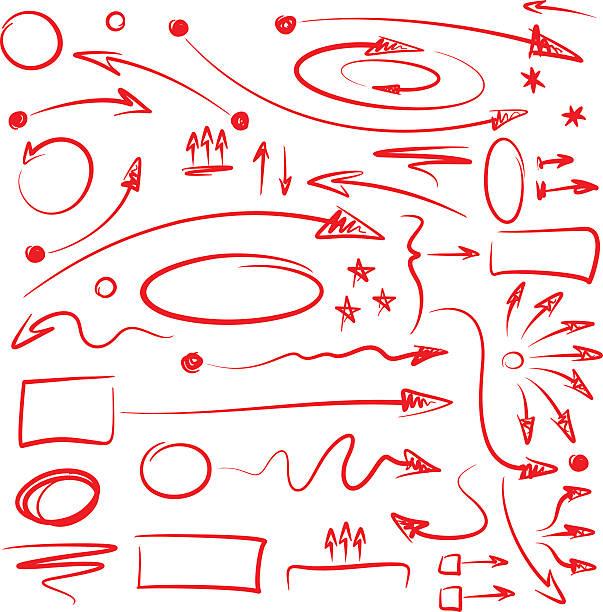 Infographics Marker Arrows vector art illustration