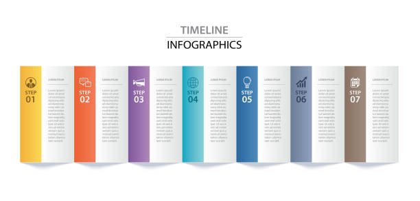 資訊圖表紙索引與7個資料範本。向量插圖抽象背景。可用於工作流佈局、業務步驟、橫幅、網頁設計。 - infographics 幅插畫檔、美工圖案、卡通及圖標