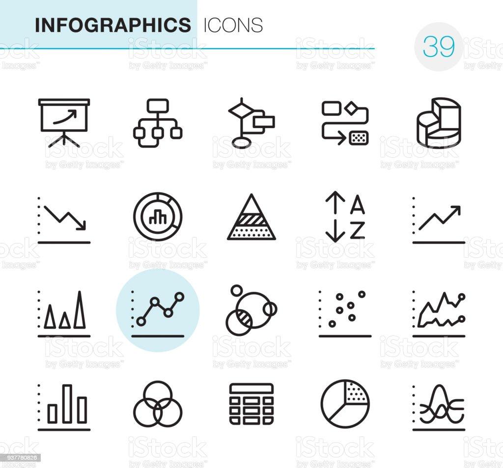 Infographics - Pixel Perfect icons vector art illustration