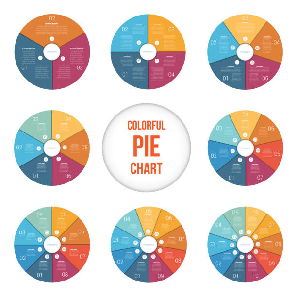 infographics set infographics set pie chart stock illustrations