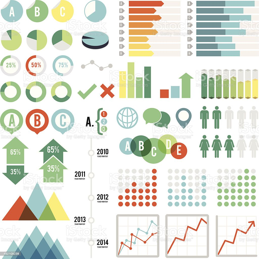 Infographics Set vector art illustration