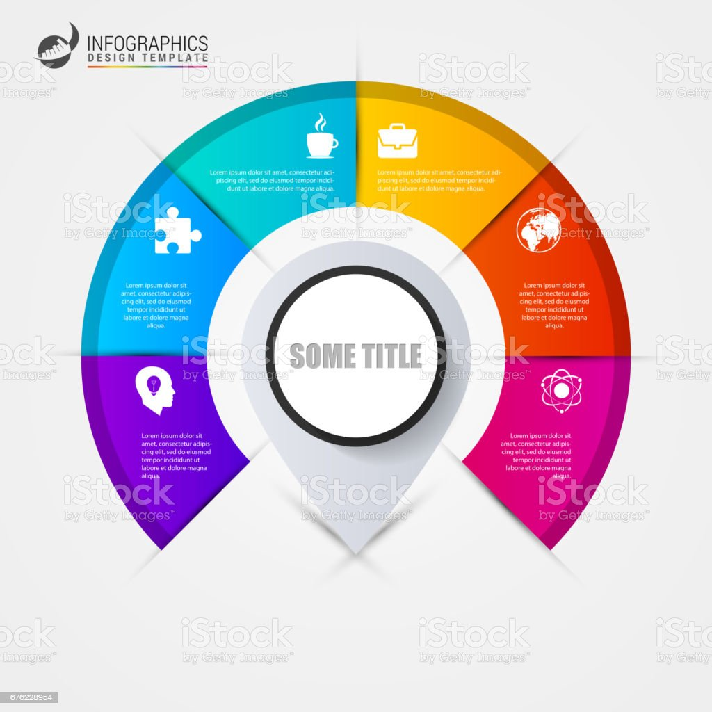 Infographics step by step with pointer. Business concept royalty-free infographics step by step with pointer business concept stock illustration - download image now