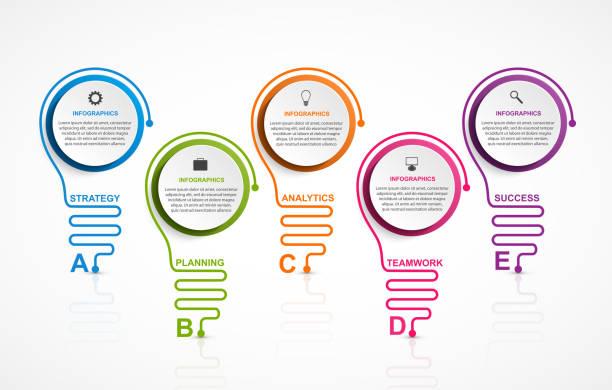 Infographics template. Infographics for business presentations or information banner. vector art illustration