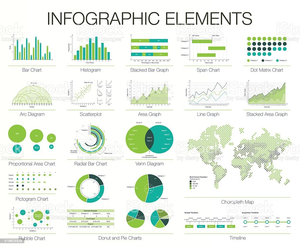 Infographics Template. Set of graphic design elements vector art illustration