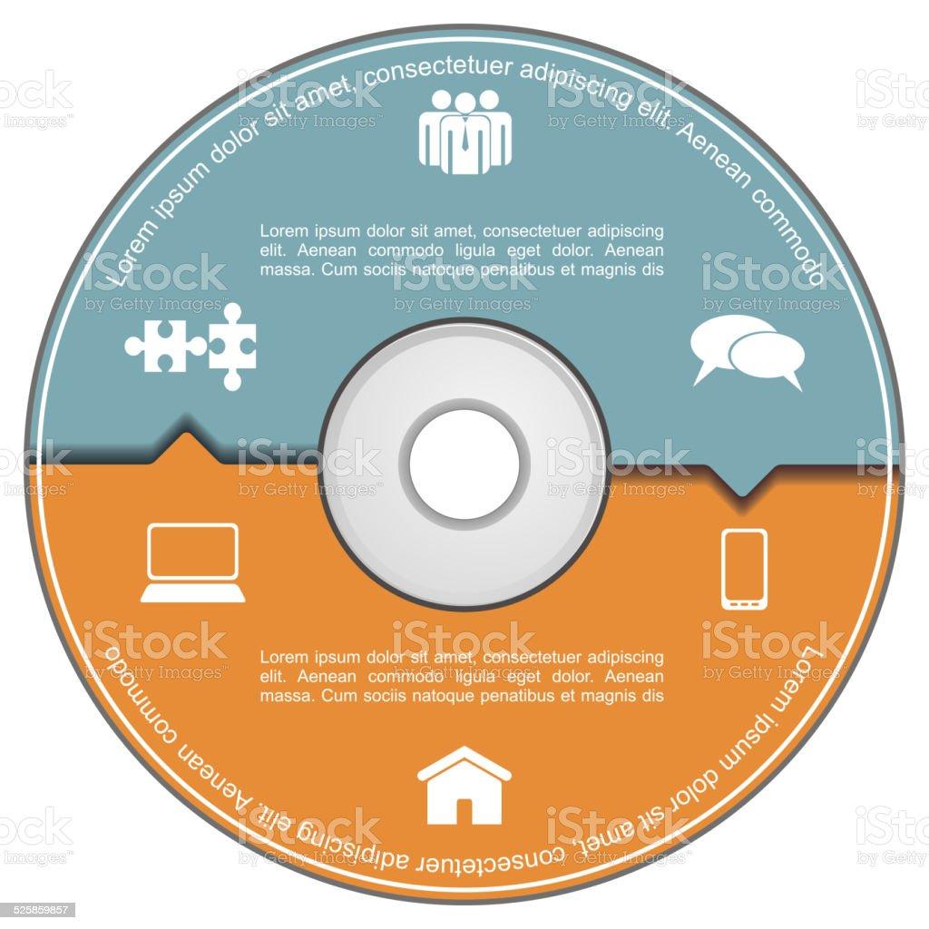 インフォグラフィックテンプレートにコンパクトディスクます dvdの