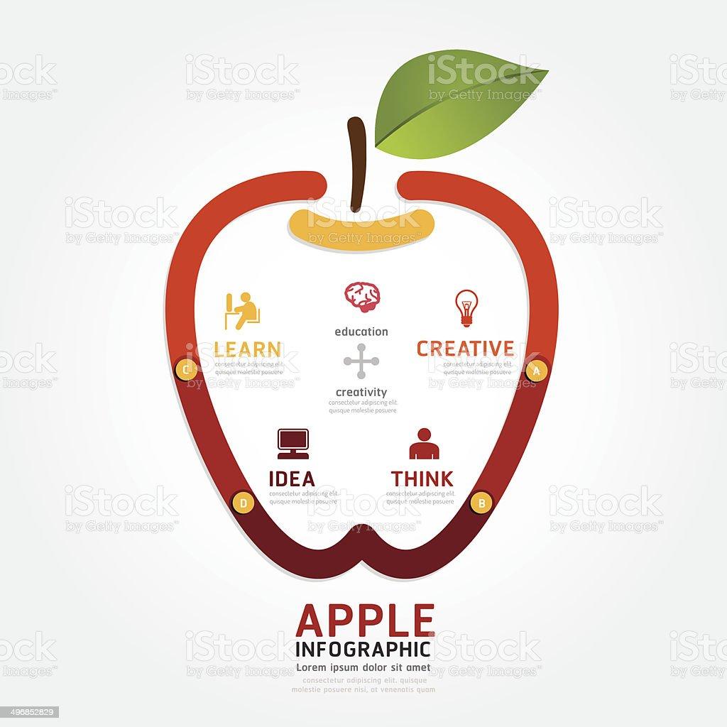 Ilustración de Apple Vector De Infografía Diseño De Estilo Diagrama ...