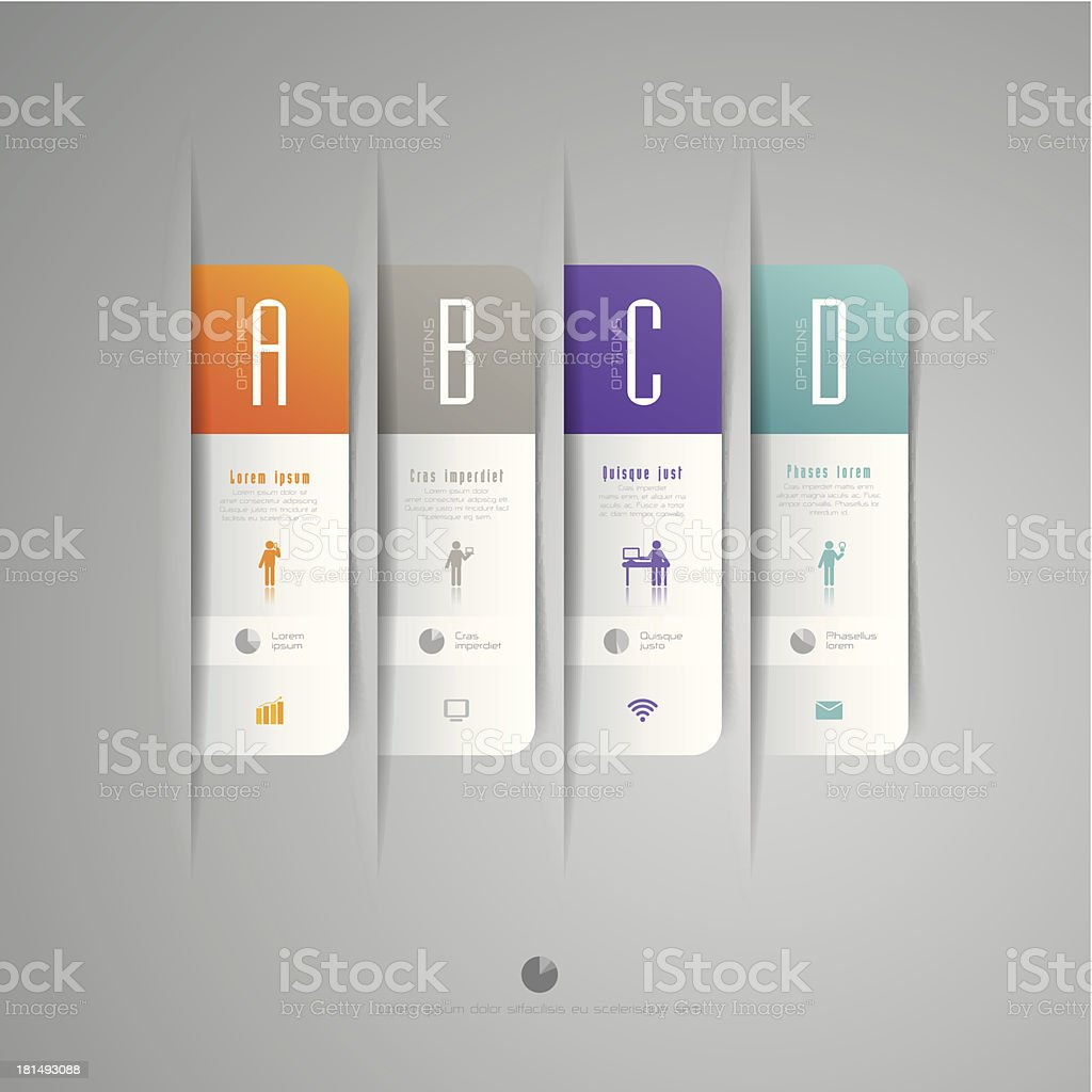 Infographics vector design template. royalty-free stock vector art