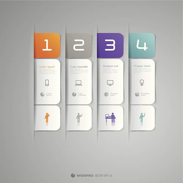 illustrations, cliparts, dessins animés et icônes de vecteur infographie design template. - type d'image