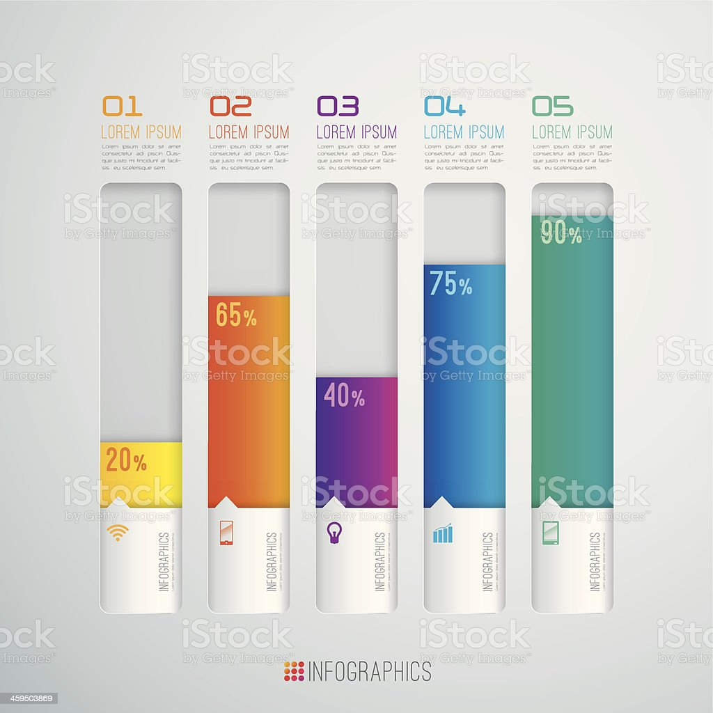 Infographics vector design template. vector art illustration