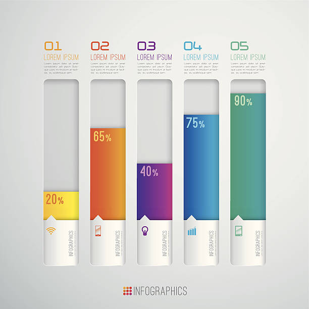 infographics vector design template. - kavramlar ve konular stock illustrations