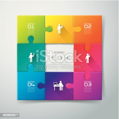 istock Infographics vector design template. 463860871