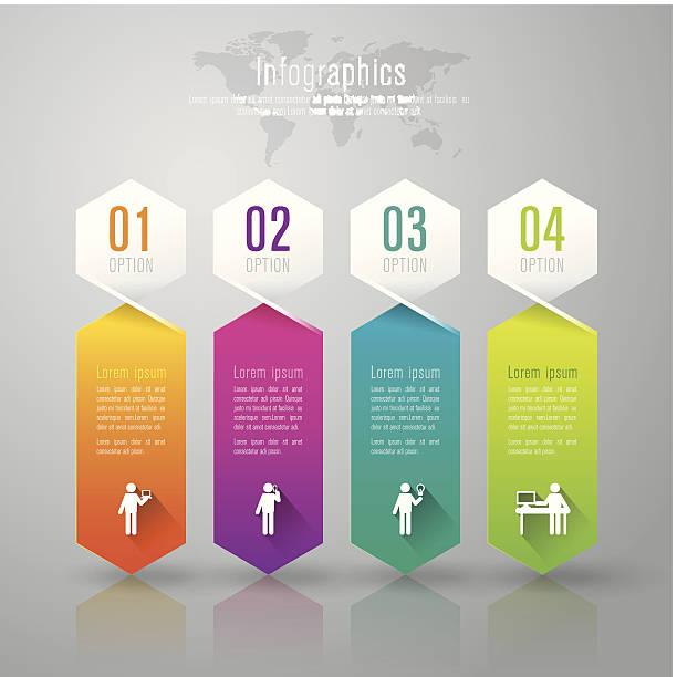 stockillustraties, clipart, cartoons en iconen met infographics vector design template. - bewogen beeldtechniek
