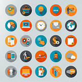 Infographics vector icon set