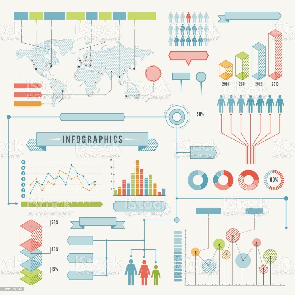 Infographics vector art illustration