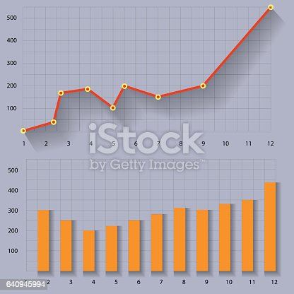 Infographics Page Template. Graphs and Charts. Illustration Vector