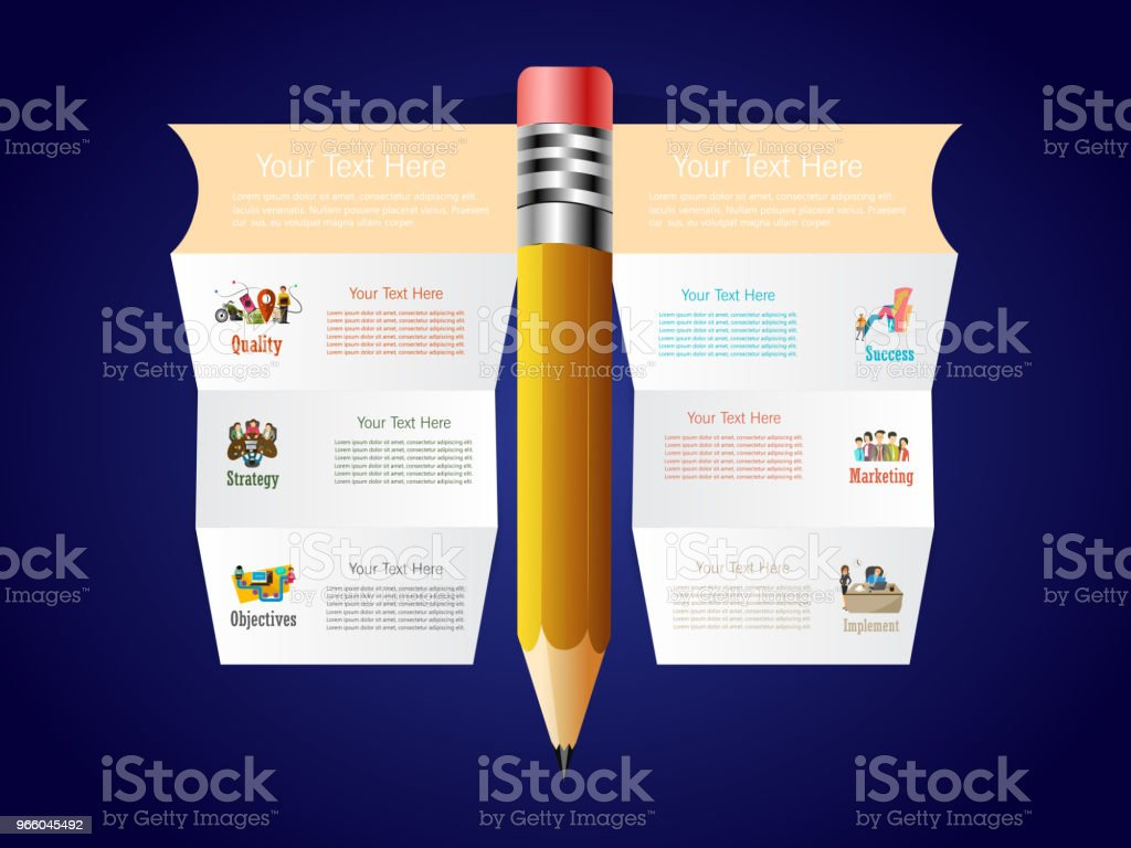 Infographics nice and beautiful infographics for business with creative illustration. Abstract stock vector