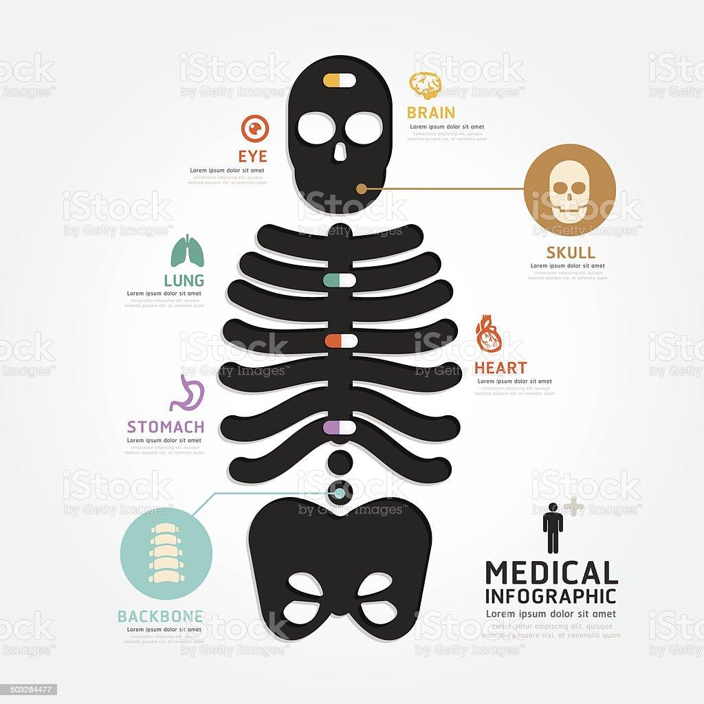Vector Cráneo Los Médicos Infografía Diseño De Estilo Diagrama De ...