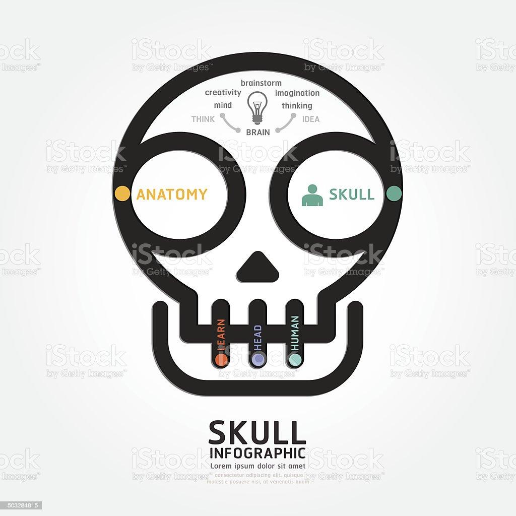 Infografías Vector Cráneo Y Cerebro Diagrama De Diseño De Estilo ...