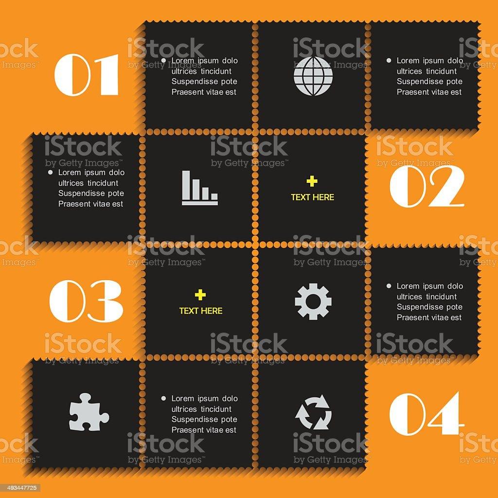 Infographics web design. Modern template. royalty-free stock vector art
