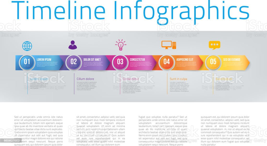 Infographics with steps or options vector art illustration