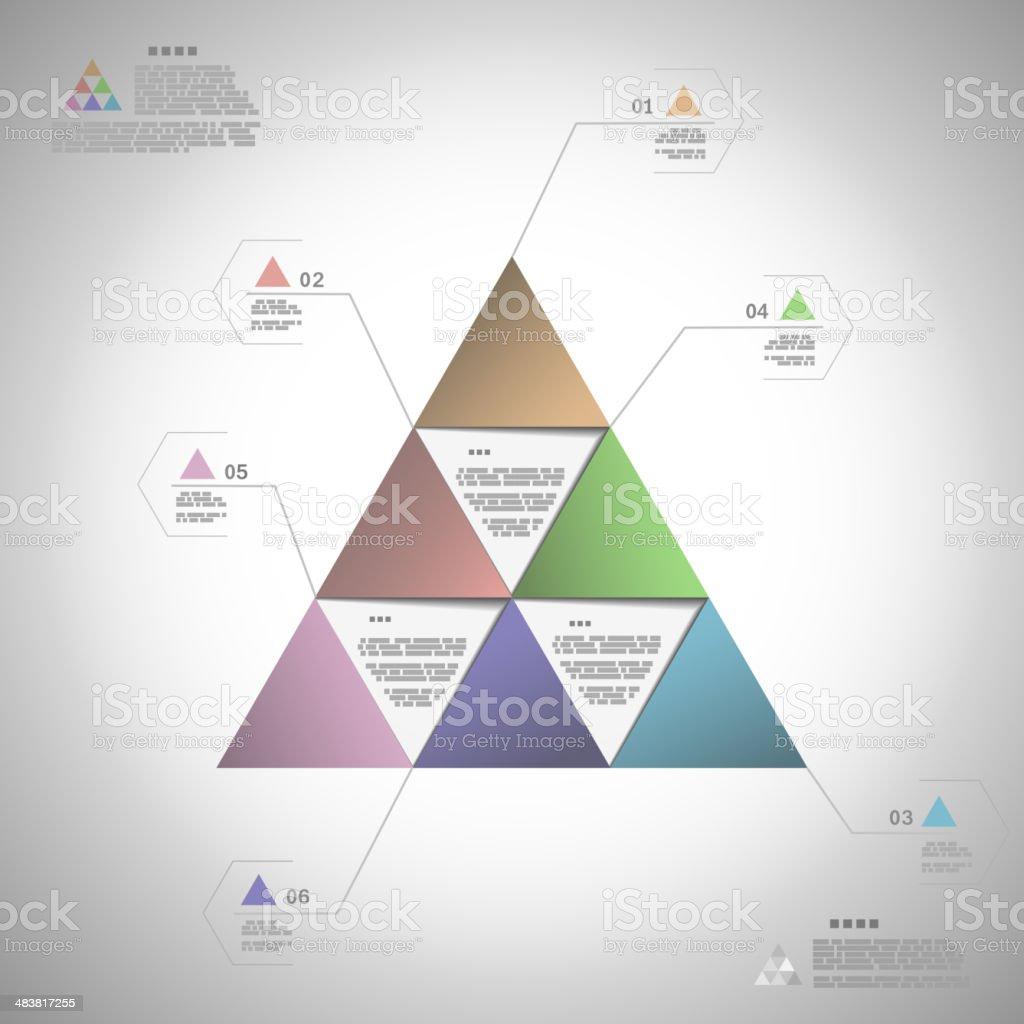 Infogrphic triangle für die Präsentation Lizenzfreies infogrphic triangle für die präsentation stock vektor art und mehr bilder von computergrafiken