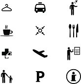 Vector File of Information at The Airport Icon Set