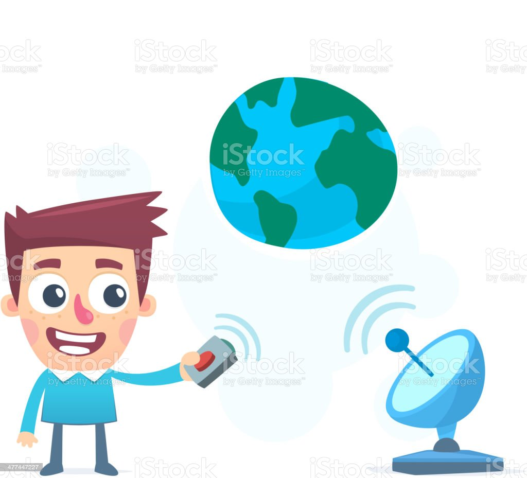 information broadcast to the whole world royalty-free stock vector art