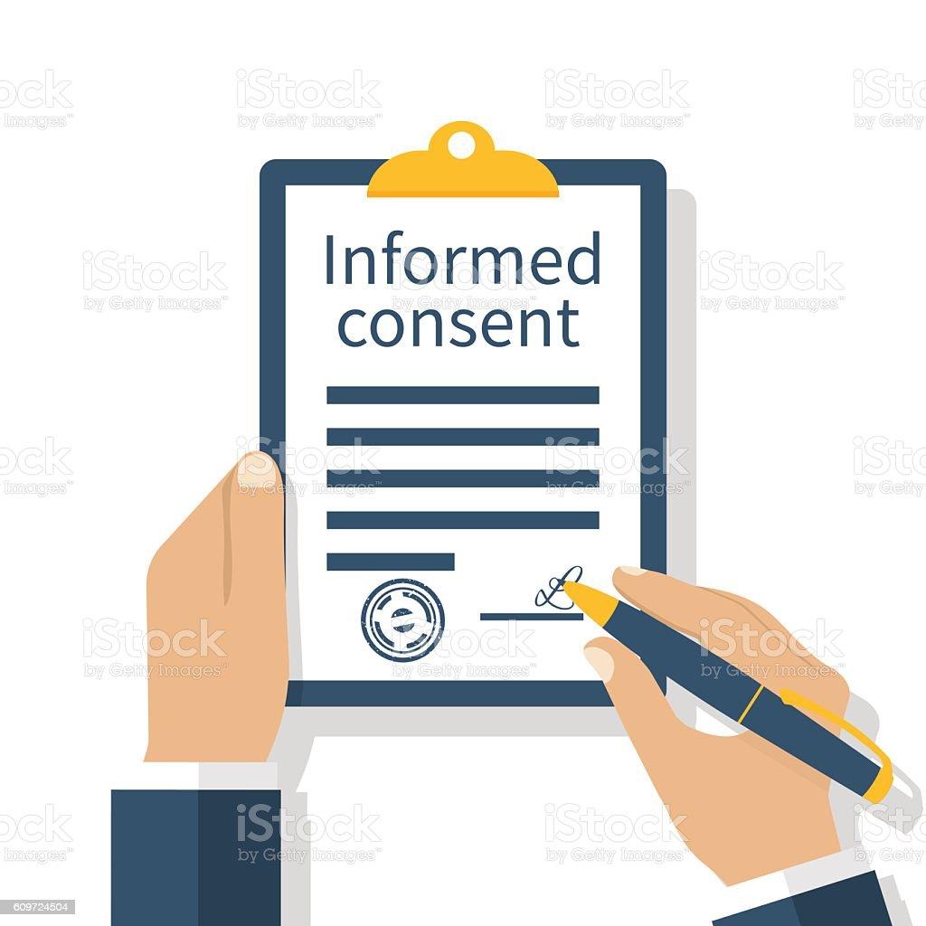 Information consent vector - illustrazione arte vettoriale