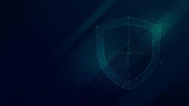 daten- und informationsschutz, zukunftstechnologie business-security-system - sicherheitsgefühl stock-grafiken, -clipart, -cartoons und -symbole