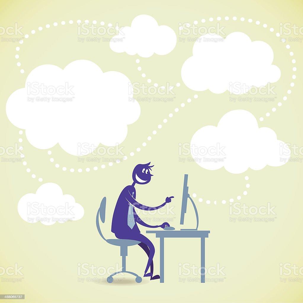 Information from internet vector art illustration