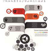 Information Graphic with Icon for Business
