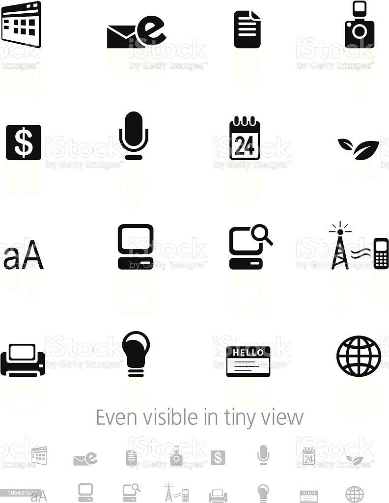 Information icon set royalty-free stock vector art