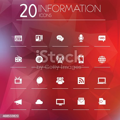 istock Information icons on blurred background 468533820