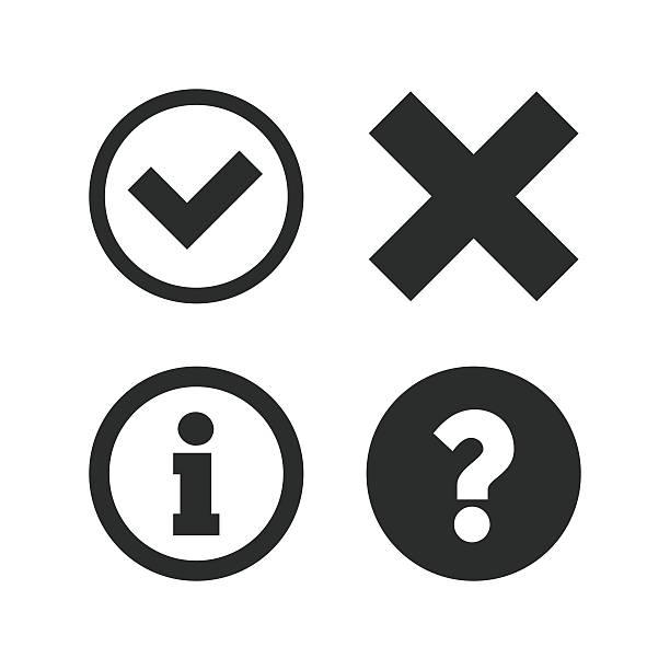 information icons. question faq symbol - data stock illustrations