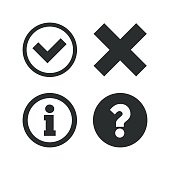 Information icons. Question FAQ symbol