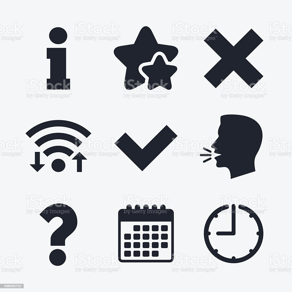 Information icons. Question FAQ symbol. royalty-free information icons question faq symbol stock vector art & more images of asking