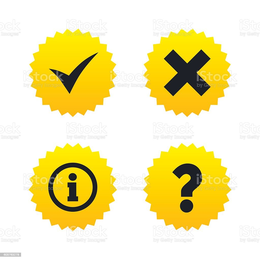 Information icons. Question FAQ symbol.