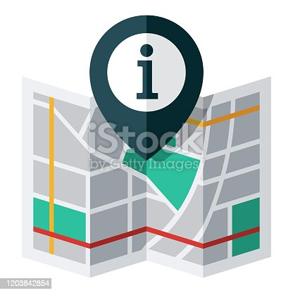 istock Information Map Pin Icon 1203842854