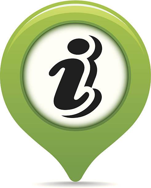 Information map pointer vector art illustration