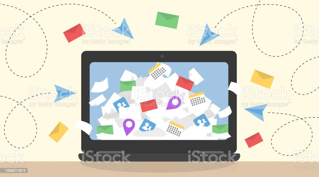 Information overload vector concept. royalty-free information overload vector concept stock illustration - download image now