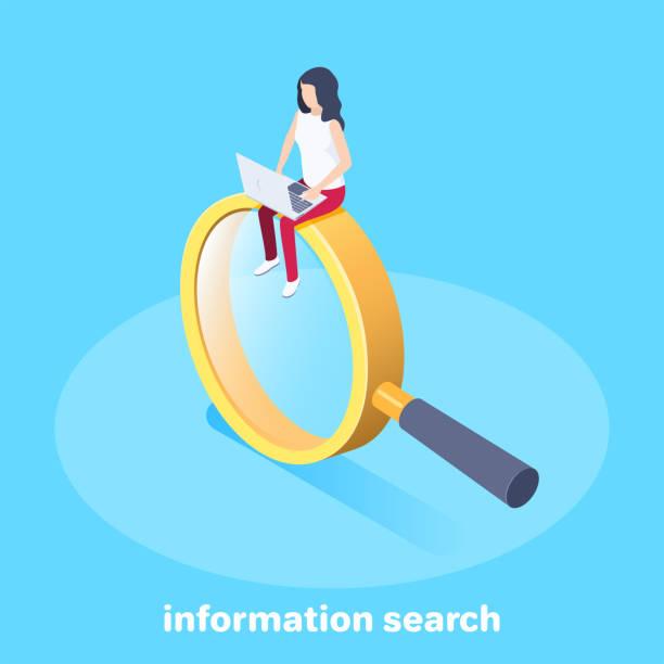 ilustrações, clipart, desenhos animados e ícones de pesquisa de informação - pesquisa