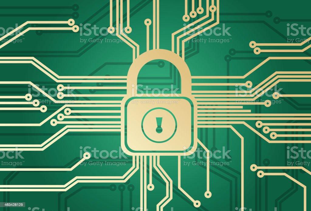 Information security vector art illustration