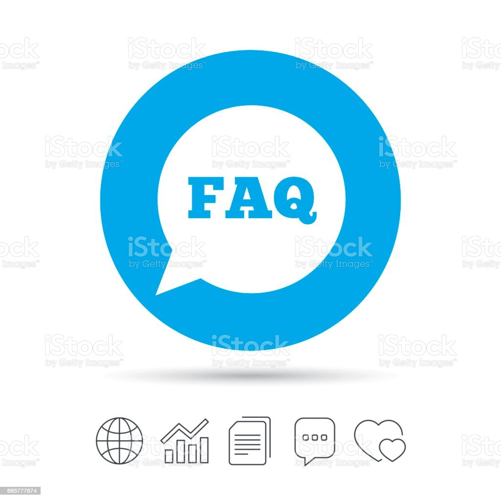 FAQ information sign icon. Help symbol. royalty-free faq information sign icon help symbol stock vector art & more images of art