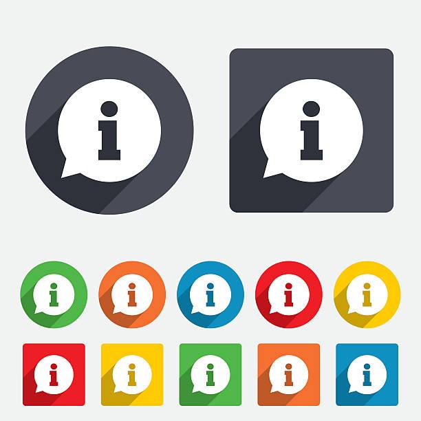 stockillustraties, clipart, cartoons en iconen met information sign icon. info symbol. - informatiemedium