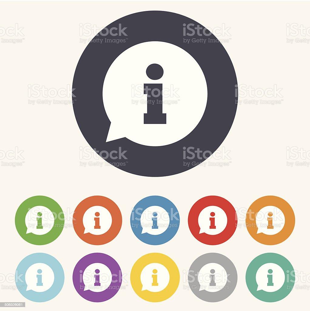 Information sign icon. Info symbol. vector art illustration