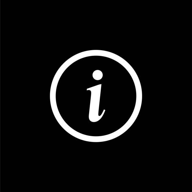 stockillustraties, clipart, cartoons en iconen met pictogram van het informatie symbool. informatie symbool vector illustratie. - informatiemedium