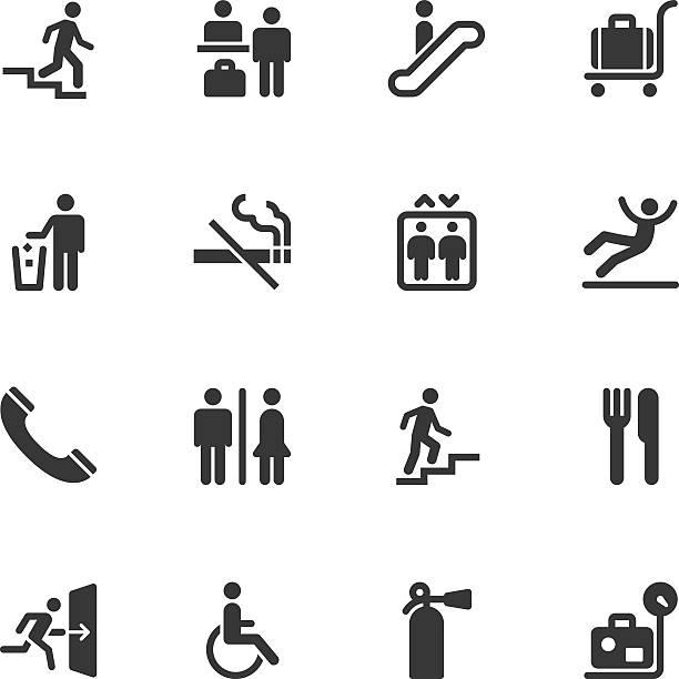 hinweisschild icons-normal - treppe stock-grafiken, -clipart, -cartoons und -symbole