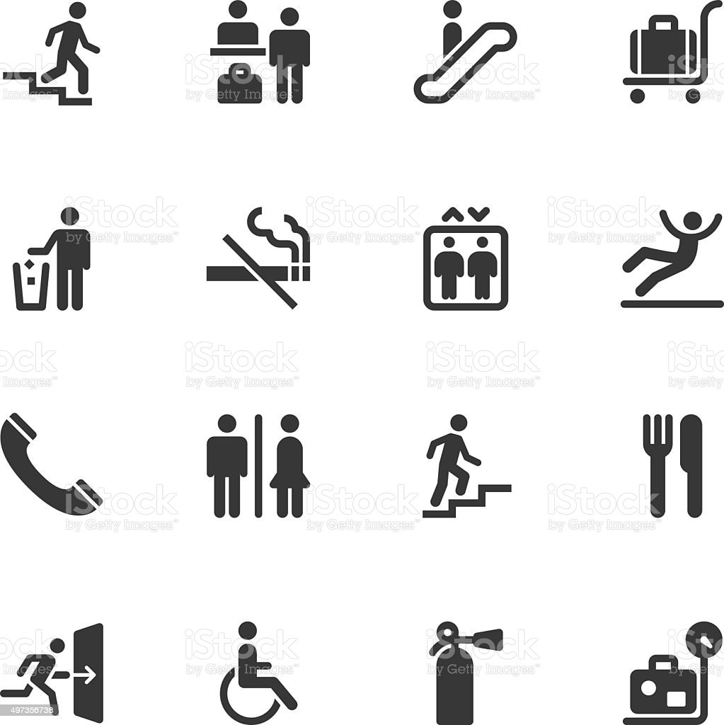 Information sign icons - Regular vector art illustration